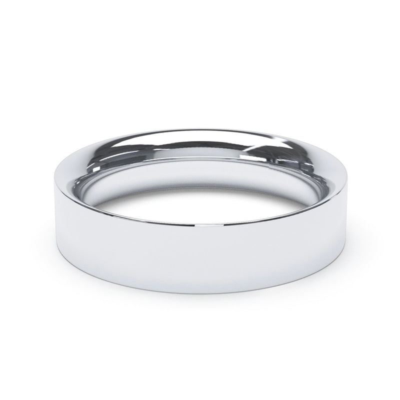 5.0mm Platinum Flat Court Band