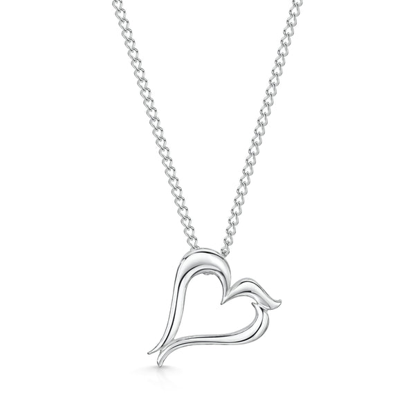 Bradleys 'B' Heart Necklace
