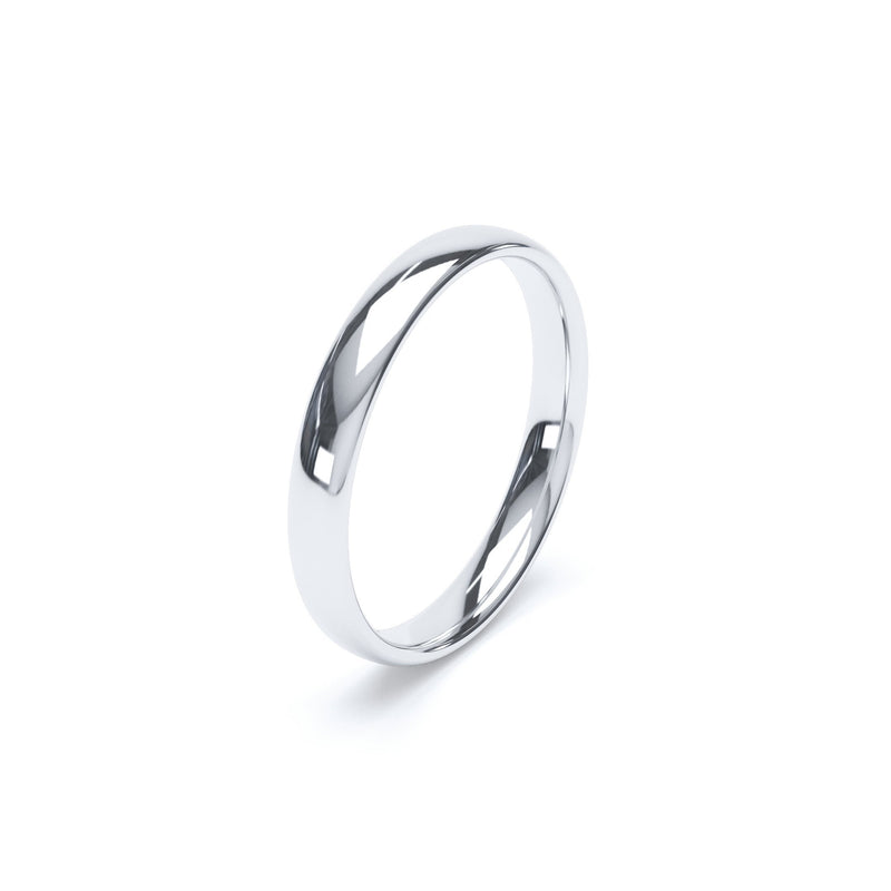 3.0mm Platinum Classic Court Band