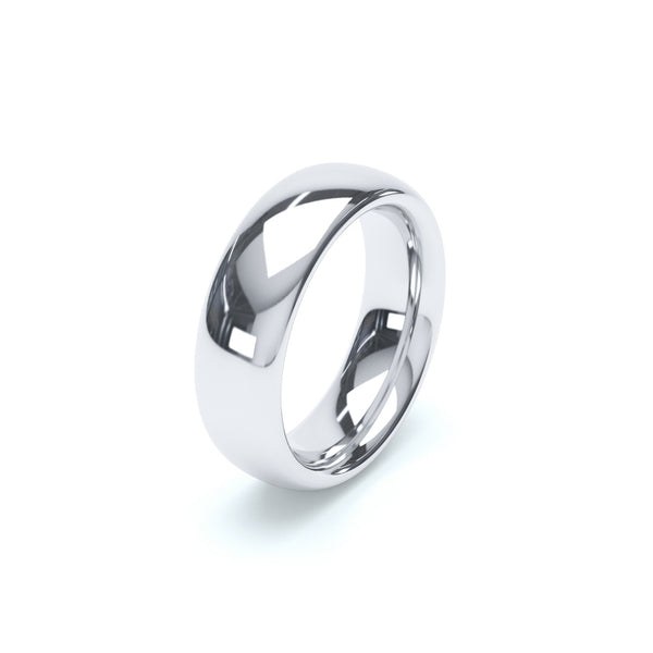 6.0mm Platinum Classic Court Band