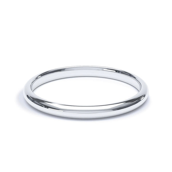 2.5mm Platinum Modern Court Band