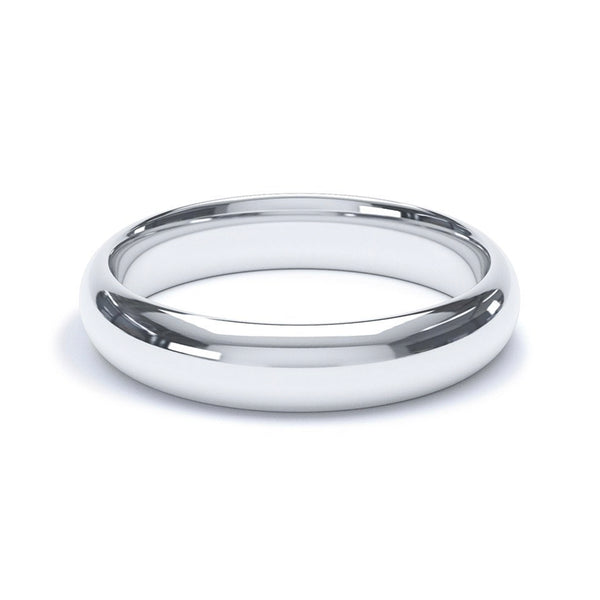 4.0mm Platinum Modern Court Band