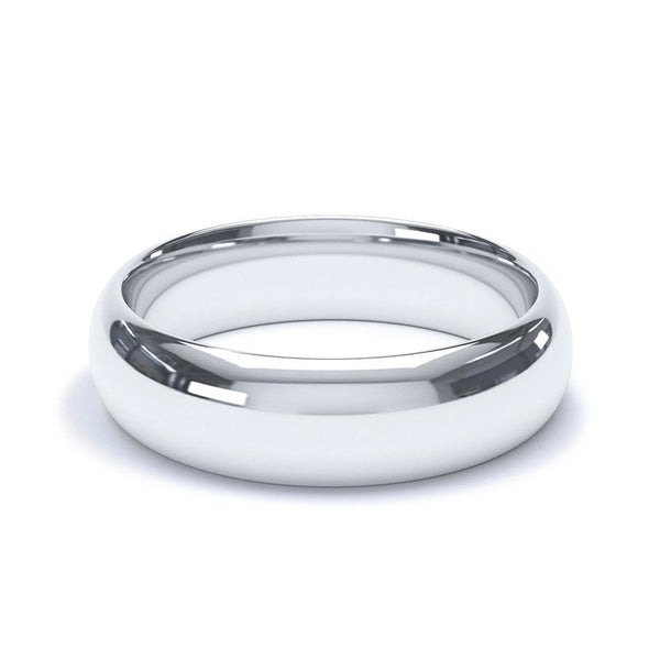 5.0mm Platinum Modern Court Band