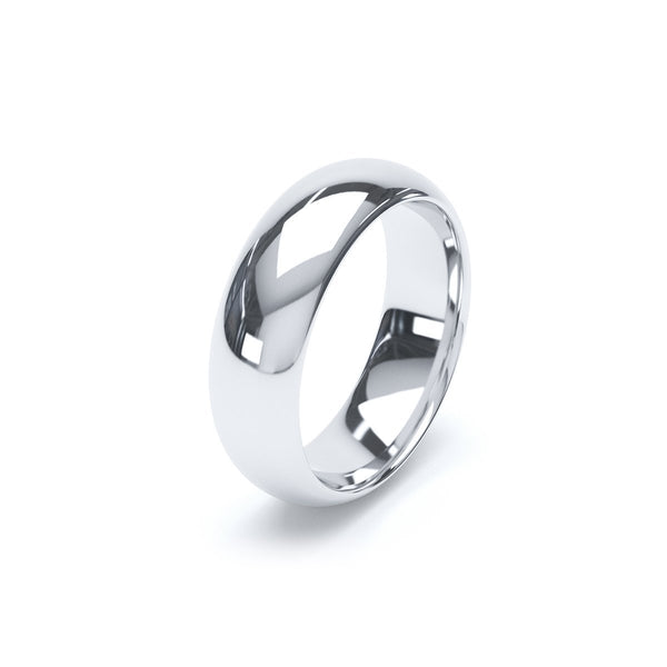 6.0mm Platinum Modern Court Band