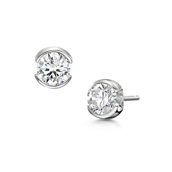 Rosebud Diamond Earrings