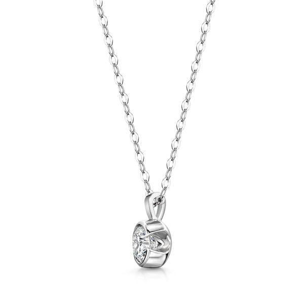 Rosebud Diamond Necklace