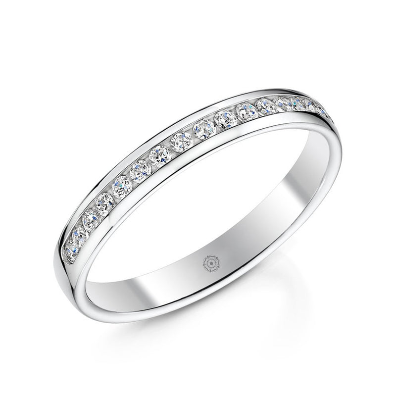 Devotion Platinum 0.25ct Half Diamond Band