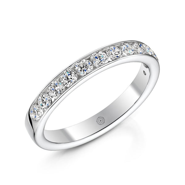 Devotion Platinum 0.50ct Half Diamond Band