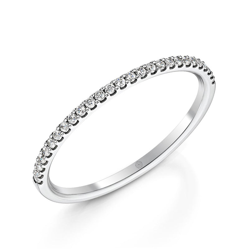 Embrace Platinum 0.15ct Half Diamond Band