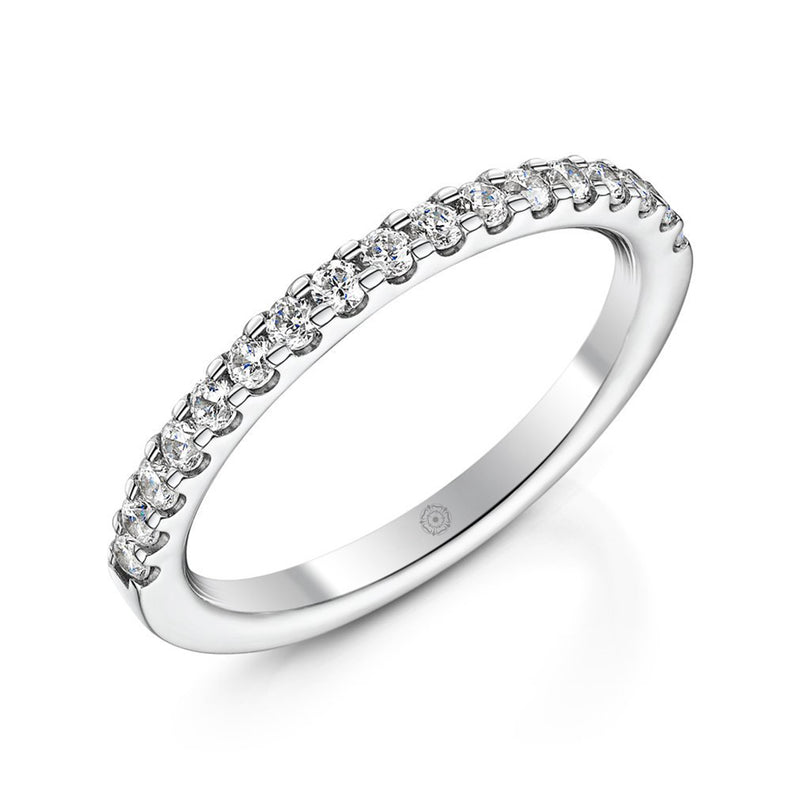 Embrace Platinum 0.35ct Half Diamond Band