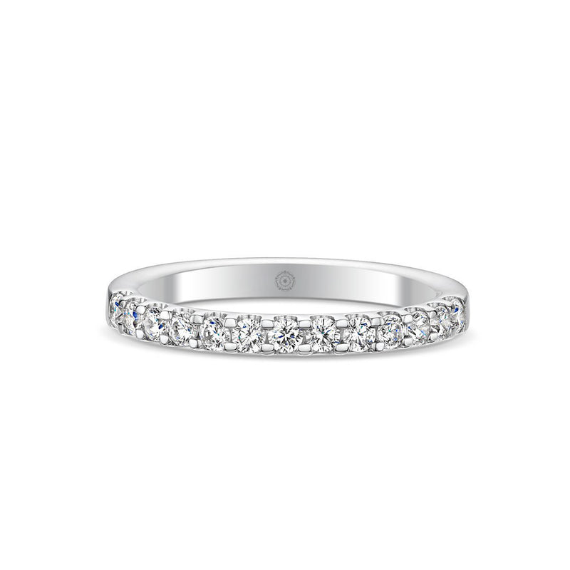 Embrace Platinum 0.50ct Half Diamond Band