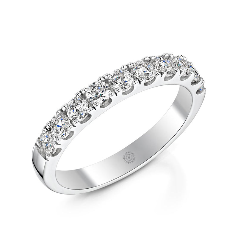 Embrace Platinum 0.75ct Half Diamond Band