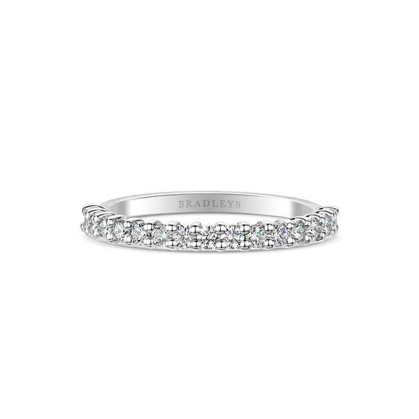 Pod Platinum 0.50ct Half Diamond Band