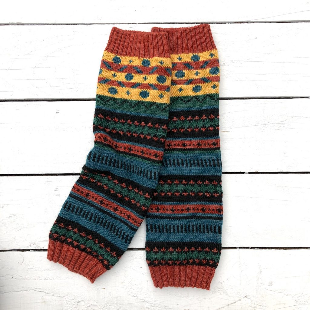 Fair Isle Peruvian Sunset Leg Warmers - HOUNDWORTHY