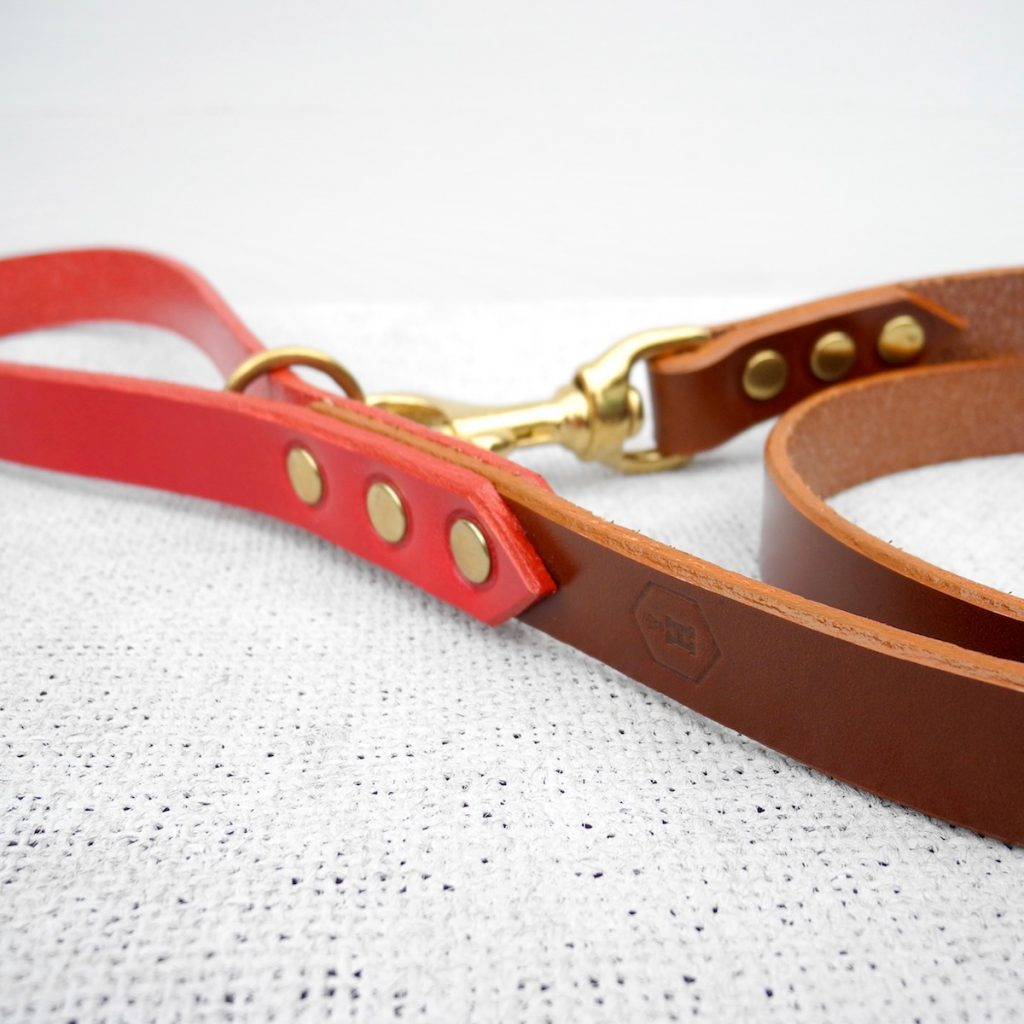 Brown Bridle Leather Dog Lead Plain - HOUNDWORTHY