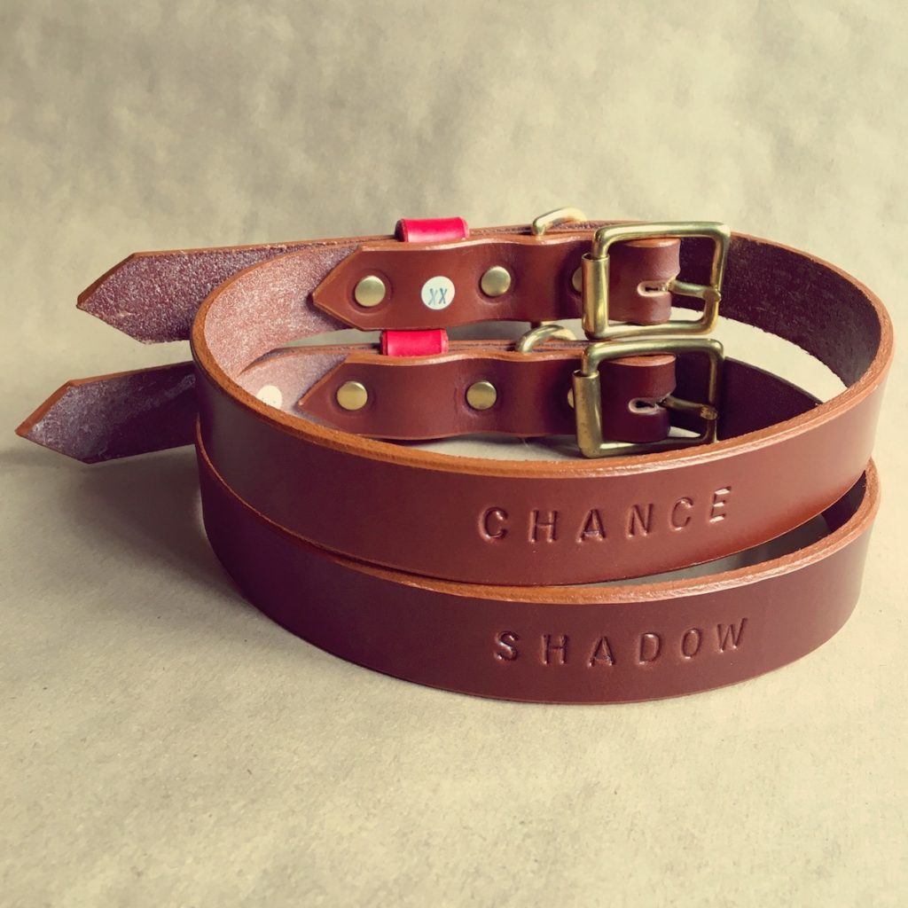 Brown Bridle Leather Dog Collar Plain - HOUNDWORTHY