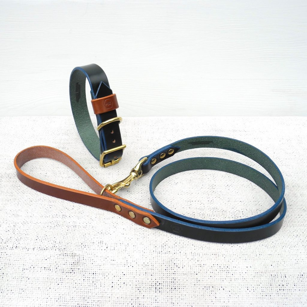 Green Bridle Leather Dog Lead Plain - HOUNDWORTHY