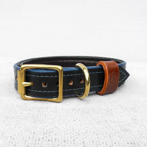 Luxury Green Bridle Leather Dog Collar With Padded Lining - HOUNDWORTHY