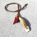 Rustic Stag Antler Dog Whistle On Leather Lanyard - HOUNDWORTHY