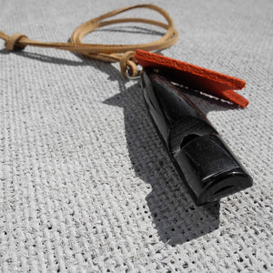 Polished Horn Dog Whistle On Leather Lanyard - HOUNDWORTHY