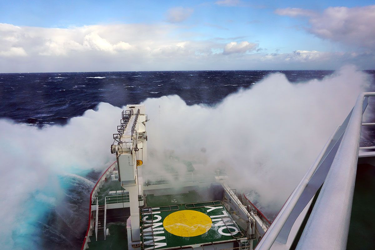 Travel to Gough Island was aboard a South African Antarctic Research Vessel, SA Agulhas II