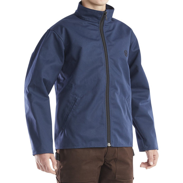 Collared Jacket Mens Navy Clearance