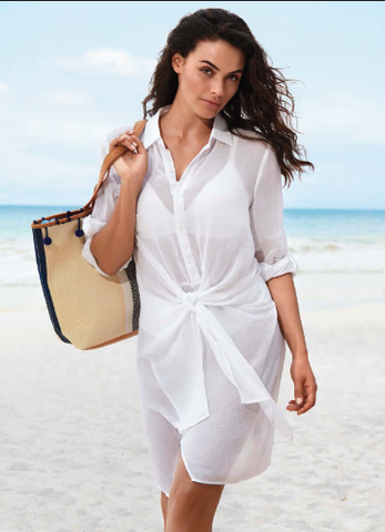 SEA LEVEL - Overswim Tie Shirt Dress