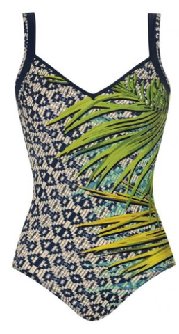 SUNFLAIR - French Leaf soft B cup one-piece swimsuit.