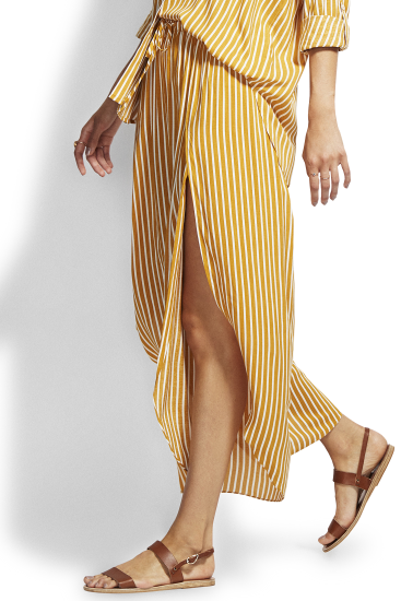 Seafolly - Beach Edit Wrap Pant.  Amber Stripe