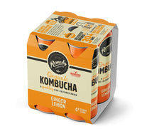 REMEDY ORGANIC KOMBUCHA - GINGER LEMON - 4x250ML