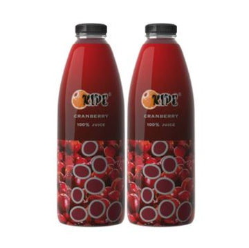 RIPE - SUPERFRUIT JUICE - CRANBERRY - 2X1L