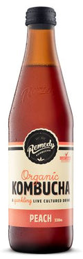 REMEDY ORGANIC KOMBUCHA - PEACH - 330ML