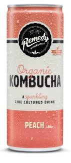 REMEDY ORGANIC KOMBUCHA - PEACH 250ML