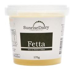 CHEESE - SUNRISE DAIRY - FETA - 175GMS - Singapore Deli and Grocer