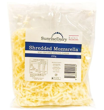 CHEESE - SUNRISE DAIRY - MOZZARELLA - SHREDDED - 250GMS