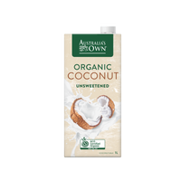 MILK - AUSTRALIA'S OWN ORGANIC COCONUT MILK (UNSWEETENED) - 1LTR