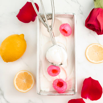 GELATO - DAIRY FREE - YUZU LEMON WITH ROSE LYCHEE (473ML)