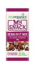 SNACK - ORGANIC BERRY NUT MIX - 30GMS