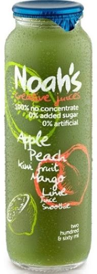 NOAH'S - SMOOTHIE - GREEN APPLE, PEACH & KIWI FRUIT - 260ML - Singapore Deli and Grocer
