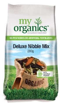 SNACK - ORGANIC DELUXE NIBBLE MIX - 200GMS
