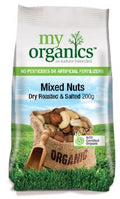 SNACK - ORGANIC MIXED NUTS - DRY ROASTED & SALTED - 200GMS