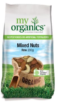 SNACK - ORGANIC MIXED NUTS - RAW - 200GMS