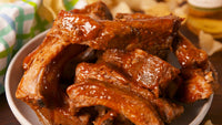 PORK - MARINATED COOKED BBQ RIBS (APPROX 600-800GMS)