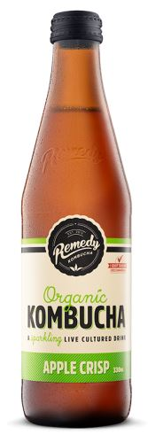 REMEDY ORGANIC KOMBUCHA - APPLE CRISP - 330ML - Singapore Deli and Grocer
