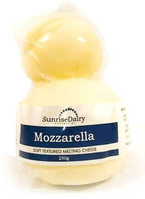 CHEESE - SUNRISE DAIRY - MOZZARELLA - 250GMS