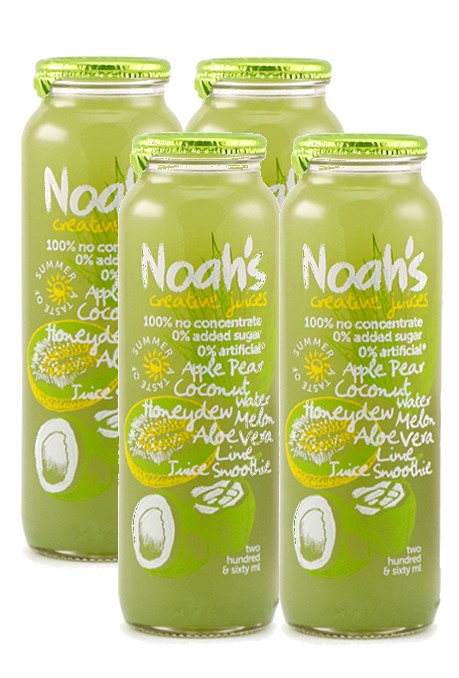 NOAH'S - COCONUT WATER - HONEYDEW MELON & PEAR - 4 X 260ML