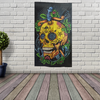 Handicrafts Cotton Wall Hanging Tapestry - Skull