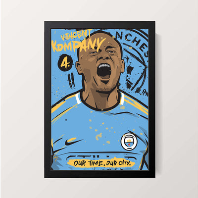 """Vincent Jean Mpoy Kompany"" Wall Decor"