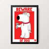 """Beware of Dog"" Wall Decor"
