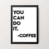 """Café Motivation"" Wall Decor"